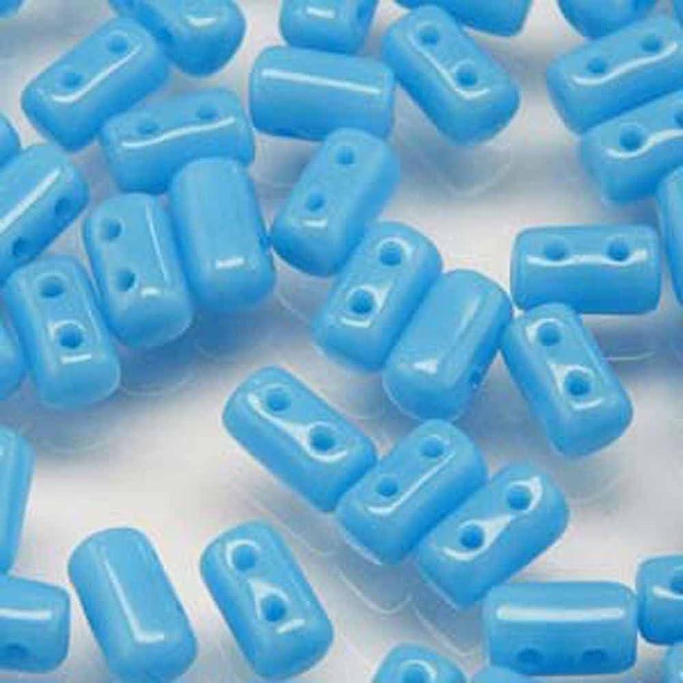 Czech Rulla Beads 22 Grams 3 x 5mm TURQUOISE BLUE