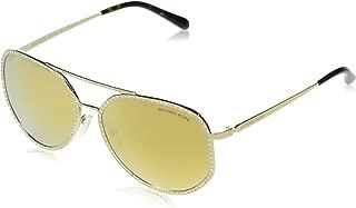 Michael Kors MIAMI MK1039B Sunglasses 10147P-58 - Shiny Pale Gold Frame, Liquid MK1039B-10147P-58