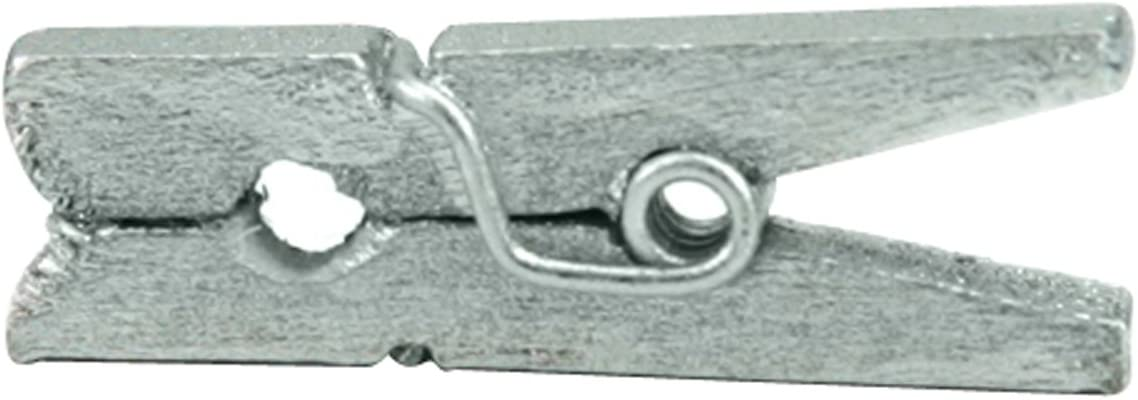 Canvas Corp CVS2145 1-Inch-by-.25-Inch Mini Silver Clothespins 25 Pieces