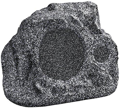 """MONACOR GLS-351/GR, wetterfester ELA-Gartenlautsprecher\""""Rock\"""", Outdoor Loud-Speaker in Stein-Optik für die allgemeine Musik-Wiedergabe im Garten, Restaurant oder Terrasse, 1 Stück in Grau"""