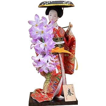 # 18 Poup/ée japonaise Geisha Girl Geiko Kimono Doll D/écoration D/écoration Art Collection
