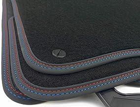 Premium Velour Fußmatten Doppelnaht für BMW 3er M3 E46 Cabrio ab Bj.2001-2007