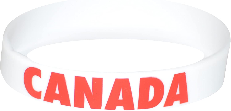 Komonee Kanada weie Olympia-Silikon-Armbnder (100er Pack)