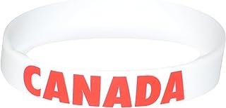 Komonee Serre-Poignets en Silicone Blanc des Jeux Olympiques Canada (Pack de 1)