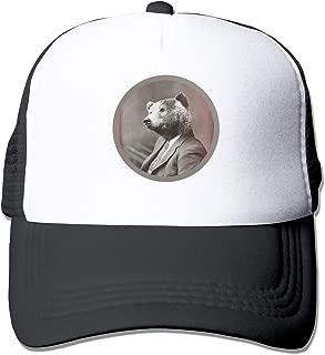 Mr's Bear Trucker Hat Snap Back Sun Mesh Baseball Cap Hip Hop Flat Hats for Men and Women