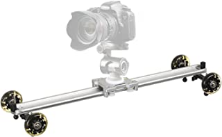 gazechimp Portable Camera Slider Camera Video Track Dolly Suitable for Smartphone DSLR