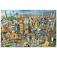 BBJOZ 木製ジグソーパズル-世界のランドマーク-大規模な300/500/1000ピース大人の減圧子供の教育玩具ユニークなギフト家の装飾 BBJOZ DQYC (Size : 500pcs)