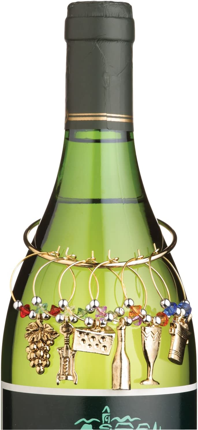 Wine Cheese Glass Max 90% OFF discount Tone Gold Charms