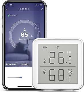 Explopur Sensor de Humedad de Temperatura Inteligente WiFi Compatible con Alexa Sensor de Monitor de Humedad de Temperatur...
