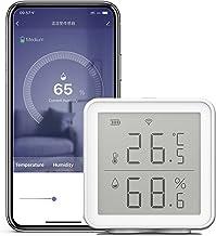 Romacci Sensor de umidade de temperatura inteligente WiFi compatível com Alexa 230 pés Higrômetro digital sem fio de alcan...