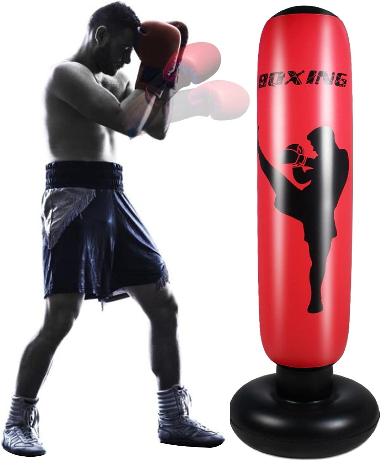 Max 86% OFF FFOO Boxing Bag Punching Bags Inflatable for 1.7m New color Adu