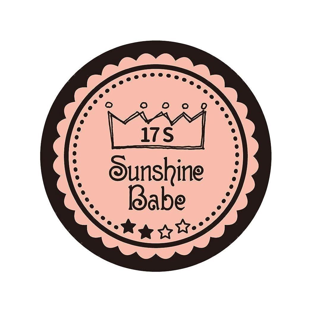 コンパクト腸統合するSunshine Babe コスメティックカラー 17S ヌーディーローズ 4g UV/LED対応