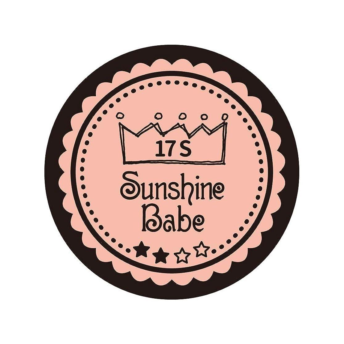 遊び場気味の悪い打ち上げるSunshine Babe コスメティックカラー 17S ヌーディーローズ 4g UV/LED対応