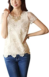 a43b06c1b0 Amazon.it: Pizzo - Bluse e camicie / T-shirt, top e bluse: Abbigliamento