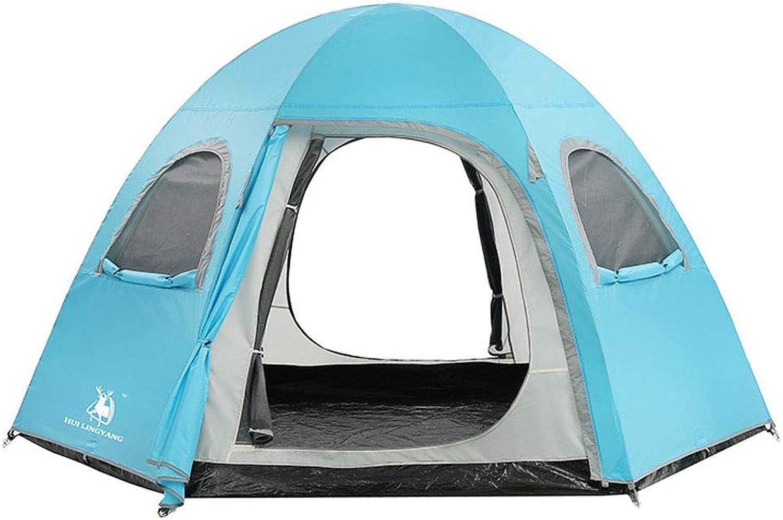 Outdoor Tent Double Rainproof Increase Hexagonal Camping Tent 58 People Tent