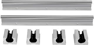 2 St/ücke SBR12-1000mm 12mm Kohlenstoffstahl Linear Gleitschienenwelle und 4 St/ücke SBR12UU Lagerblock Linearschienenwelle