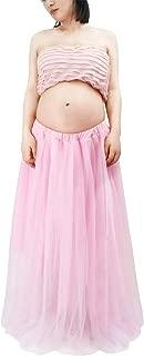 Traje de 2 Piezas Ropa Fotos Embarazada Disfraz Pre-mamá Maternity Dress Ruffle Falda Fotografía + Top - Rosa