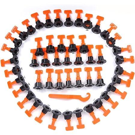 Sistema De Nivelaci/ón De Baldosas 100 Herramientas Piezas Reutilizables Azulejos Espaciadores Nivelador De Bricolaje para La Pared del Edificio De Planta
