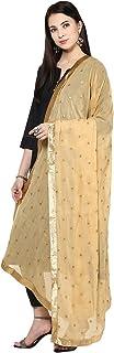 TMS Woman's Embroidered Chiffon Dupatta Scarf Shawl Wrap Soft Indian Bridal Wedding