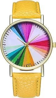 T119-A Elegant Fashionable Women's Geneva Roman Watch Lady Leather Band Analog Quartz Wrist Watch -