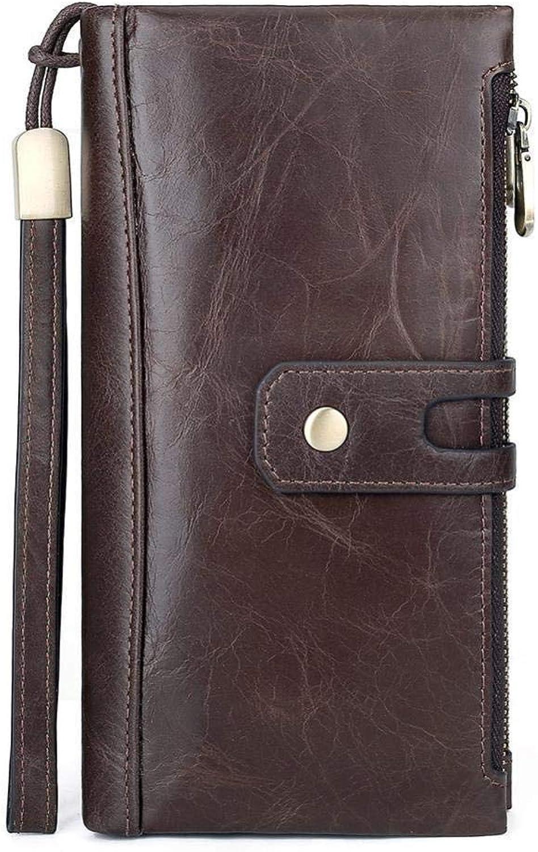 Olydmsky Geldbörse Damen Handgelenk damenbörse große große große Zip Multikarte echtes Rindsleder große Kapazität Handtasche Mode 0 Brieftasche Brieftaschen B07H7C5LXX 654661