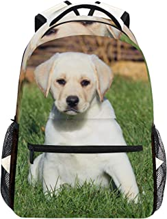 Cute Labrador Puppy Girls Backpacks for Elementary School Bookbag 3rd 4th 5th Grade