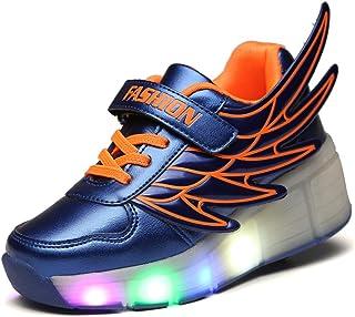 SRD-LED Luz Moda Aire Libre Parpadea Ajustable Rueda Roller Automática de Skate Zapatillas con Ruedas Zapatos Patines Depo...