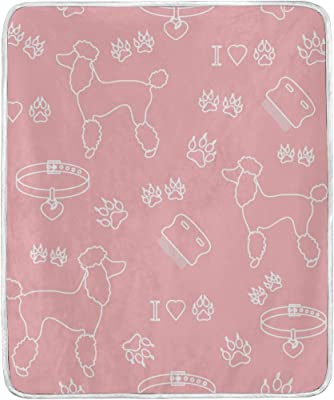 91349fcbc0 Dragon Sword Poodle Comb Collar Dog Track Pink Soft Warm Cozy Throw Blanket  50