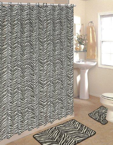 fabric zebra shower curtain