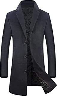 Men's Coat 80% Wool Content Classic Hooded Jacket Winter Stylish Trench Coat NDZS