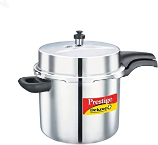Prestige PRDA10 Deluxe Alpha Induction Base Pressure Cooker, 10-Liter, Stainless Steel
