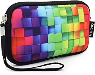 "Unisex Neoprene Wristlet Wallet Clutch Purse, Coin Pouch, Pencil Bag, Cosmetic Bag 7"" x 4"""