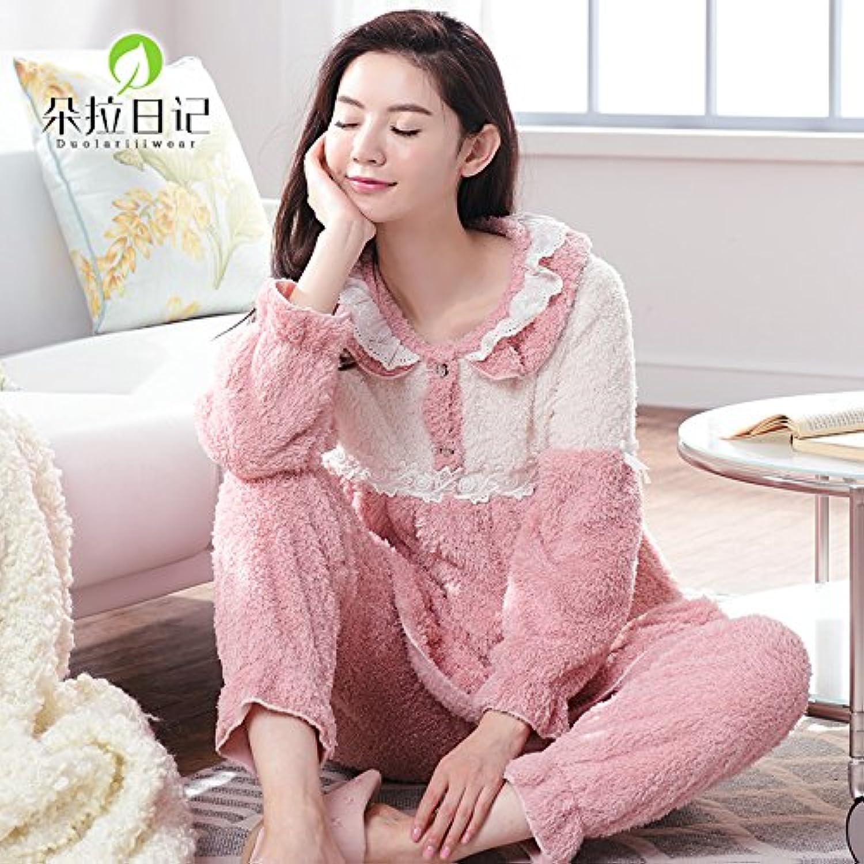 MHRITA Cashmere Nightie Female Coral Cashmere Home Clothes,170 (XL)