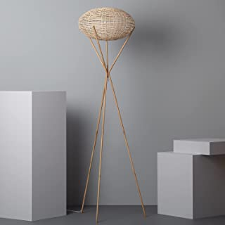 LEDKIA LIGHTING Lampadaire Ronax 1650xØ400 mm Naturel E27 Rotin pour Décoration Salon, Chambre, Cuisine