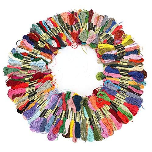 Juego de bordado, 150 colores Juego de bordado Juego de tejido de bordado Juego de agujas de coser...