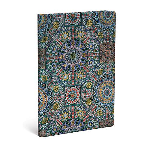 Paperblanks - Heilige tibetische Stoffe Padma - Notizbuch Midi Unliniert