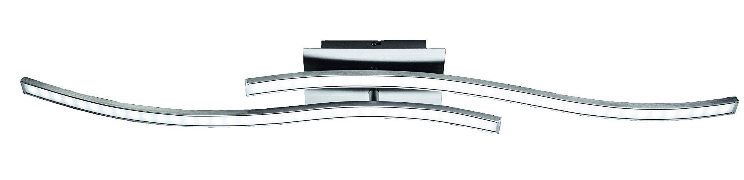 Plafoniera a LED colore alluminio 700 lumen Briloner Leuchten plafoniera a soffitto orientabile 6,5 watt
