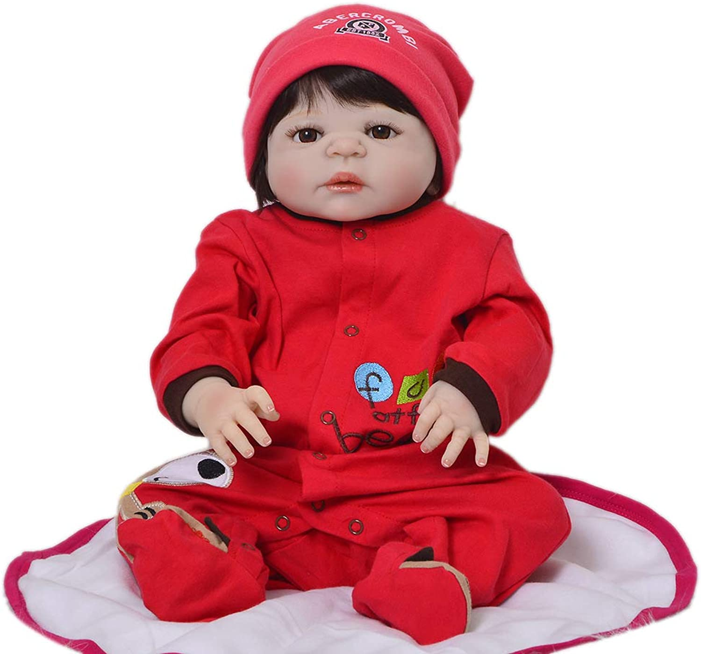 Babypuppen 57cm Reborn Baby Ganzkörper Vinyl Silikon Puppe Realistisch Schönes Baby Mit Magnet Schnuller Kann Für Geburtstagsgeschenk Und Spielzeug B07PQRRQN6 Schönes Design  | Hervorragende Eigenschaften