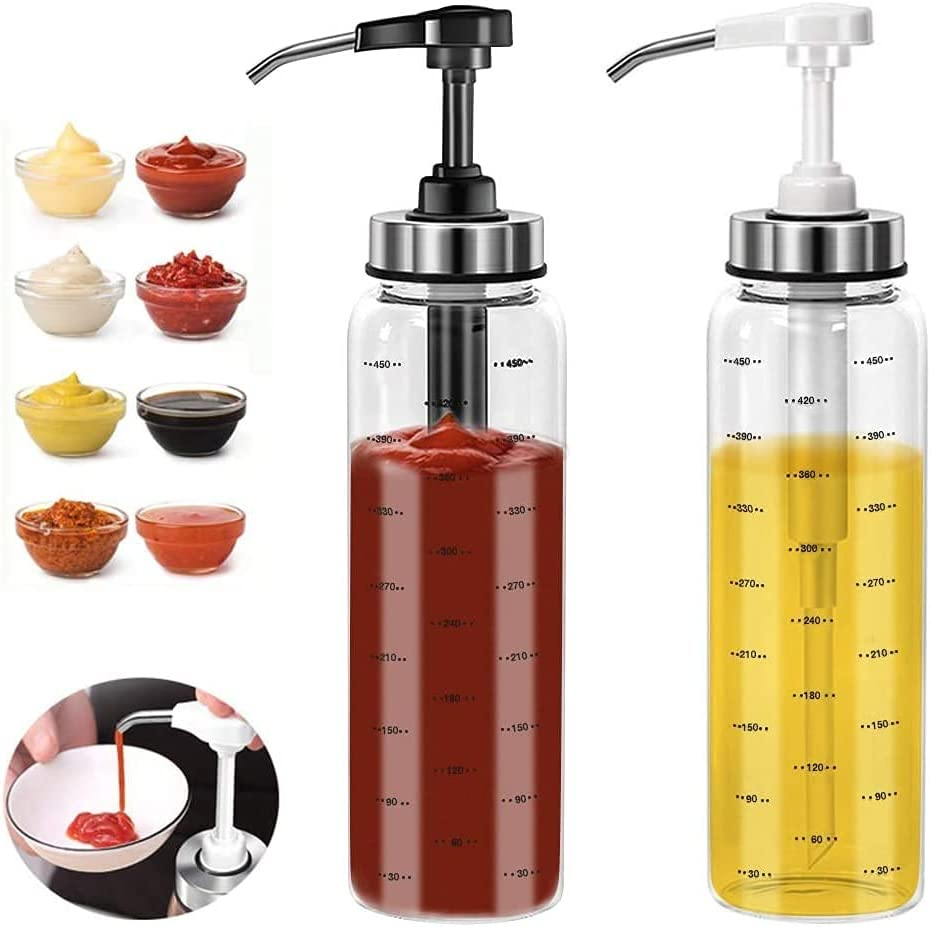 2 Pack Sauce Squeeze Bottle No Bottles Lead-Free Financial sales Limited price sale sale Glass Drip 1
