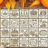 20 Pieces Fall Thanksgiving Stencils Reusable...