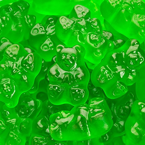 Albanese Confectionery Green Apple Gummi Bears, 5 Pound Bag