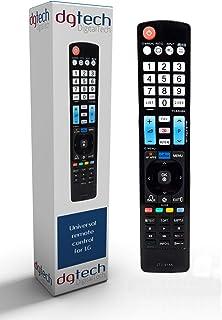 DigitalTech® - Mando Universal Smart TV para televisores LG con Botones para Plataformas de vídeo como Netflix. Compatible...