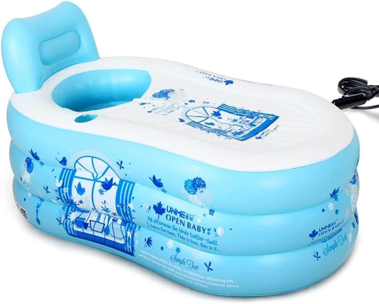 Bathtubs Soaking Baths Inflatable adult bath tub stylish home bath bath tub comfortable folding bath tub relieve fatigue (bluee) (Size   130x70x70cm)