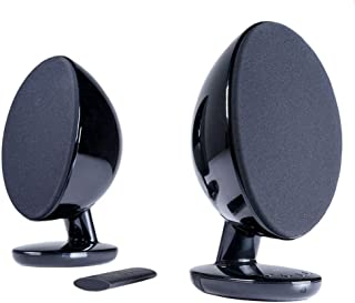 KEF EGG Versatile Desktop Speaker System - Gloss Black (Pair)