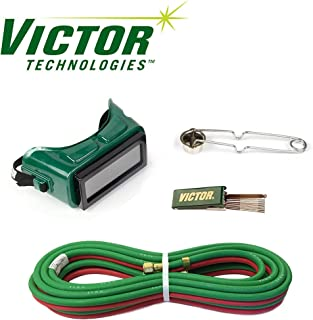 3/16 x 12.5 FT Welding Torch Hose Kit, B Fittings, Goggles, Striker, Tip Cleaner
