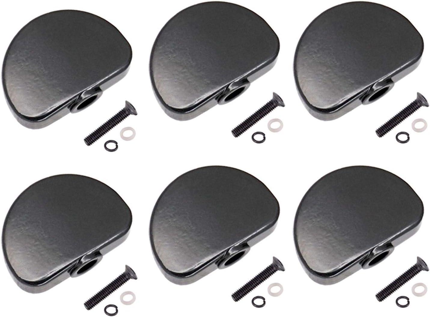 DINGGUANGHE 6 Piezas de Metal Guitarra Clavijas de afinación Heads Botones de la máquina perillas con Tornillos Kit for acústicas Guitarra Eléctrica