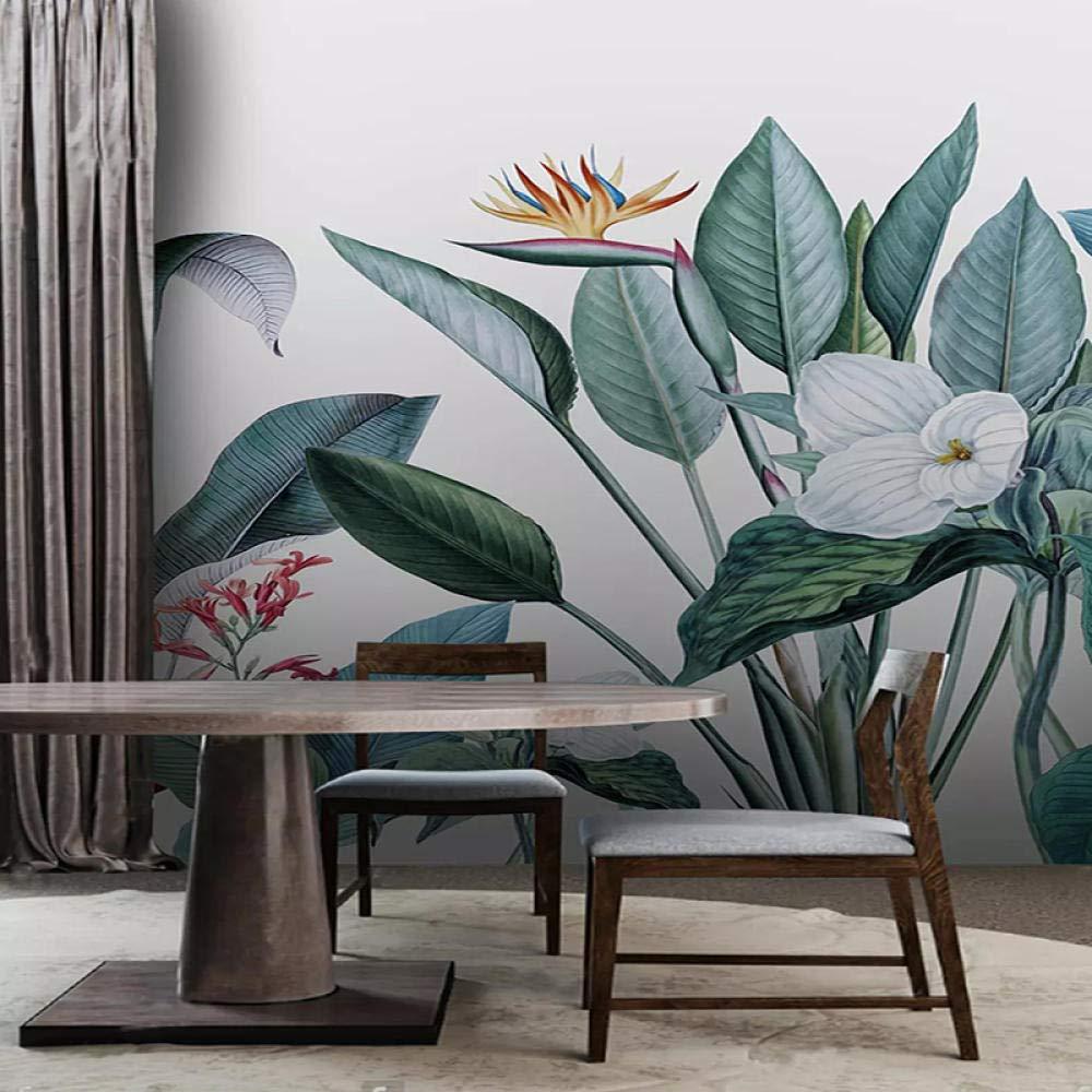 Empty 3D Wallpaper Modern Nordic Style Leaf Photo Luxury goods cheap Wall Plant Mur