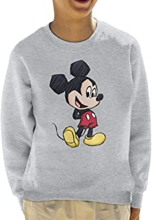 Disney Mickey Mouse Big Head Sketch Kid's Sweatshirt