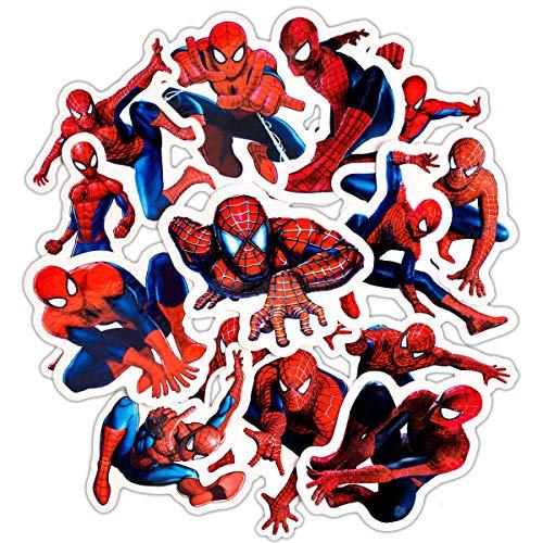 YLGG 32 Pegatinas de Graffiti Impermeables de Spider Man para laptops, patinetas, Maletas, Cascos, teléfonos móviles, Motocicletas, etc.
