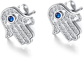 Stud Earrings for Women,Evil Eye Earring Studs Girls Gold or Silver Dangle Earring Stainless Steel Earring